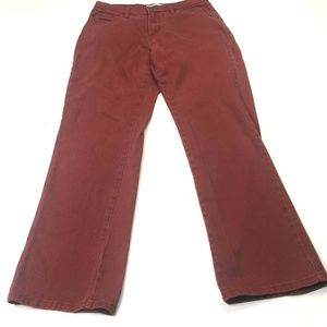 Lee - Relaxed Fit At the Waist Red SZ 6 MED (D778)